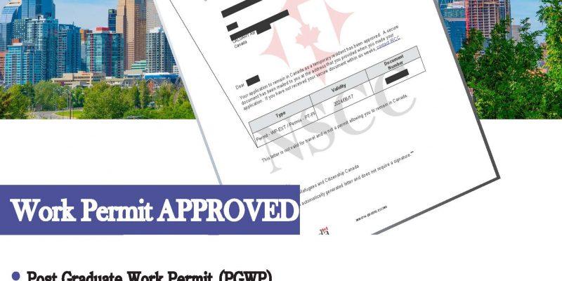 June 18, 2021, Work Permit Approved – Post Graduate Work Permit (PGWP)